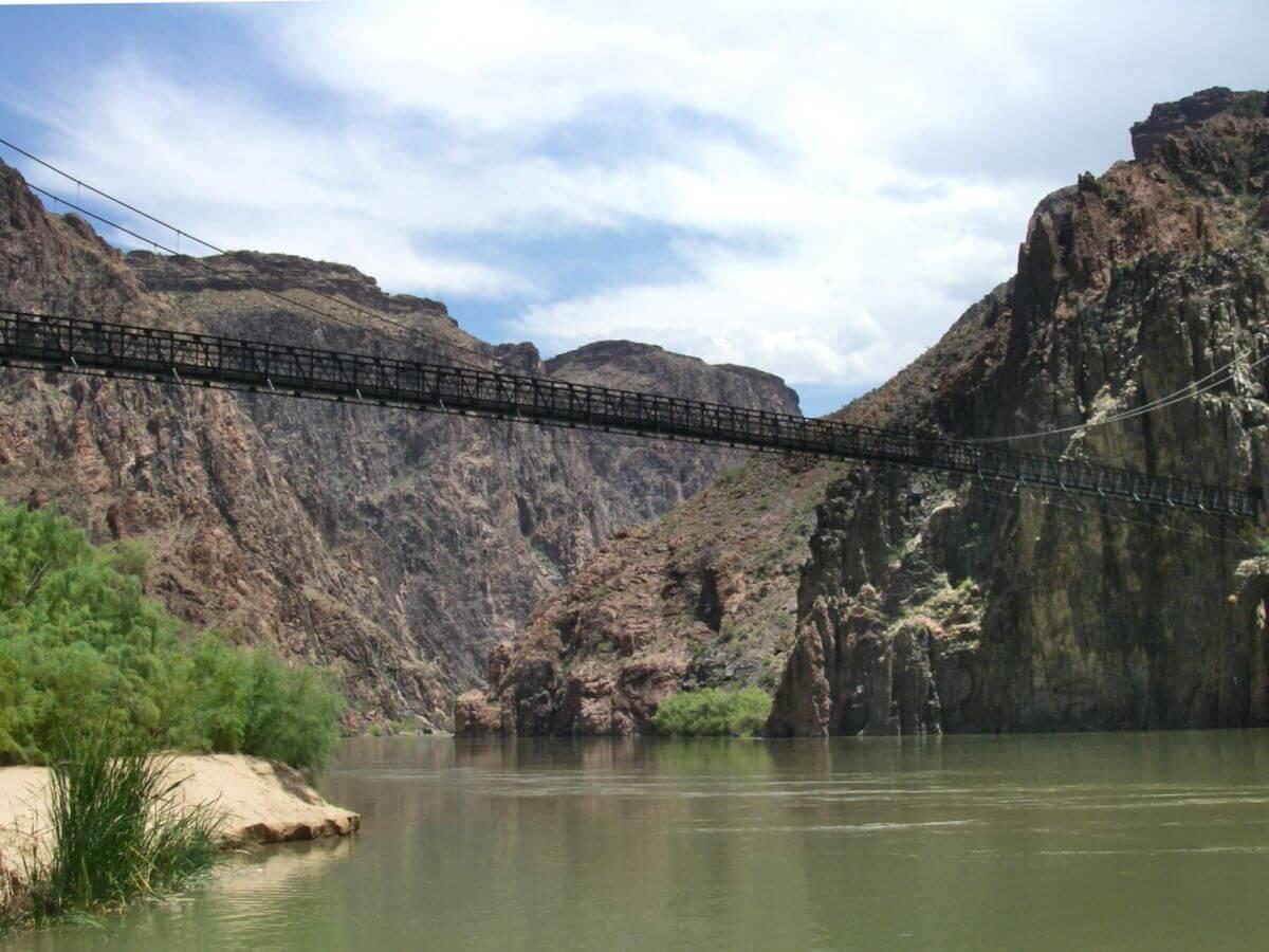 Fußbrücke über den Colorado River bei Phantom Ranch