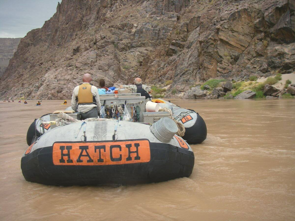 Großes Raft auf Rafting Tour im Grand Canyon