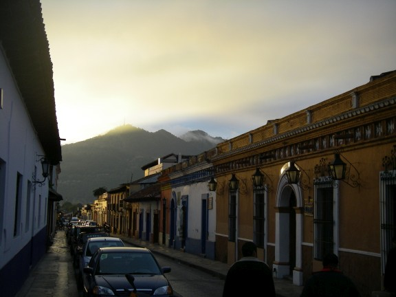 Straße in San Cristobal de las Casas.