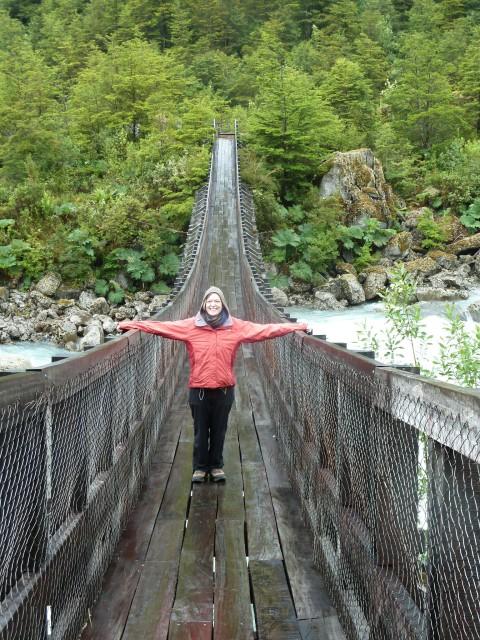 Ventisquero Colgante Hängebrücke