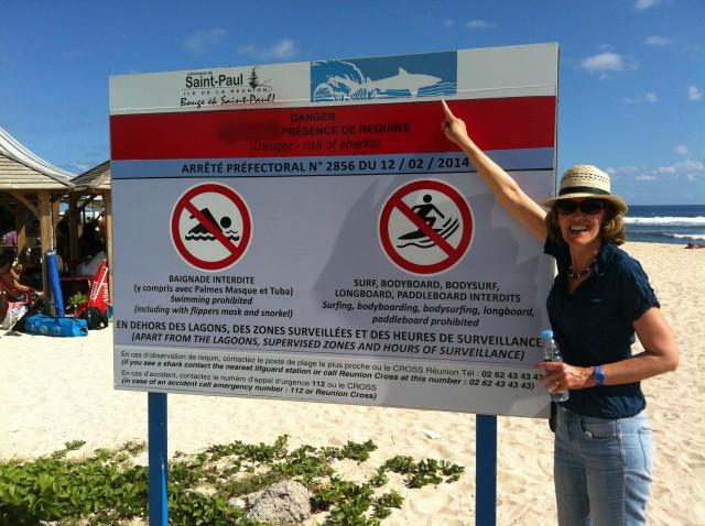 Haiwarnung im Strandparadies