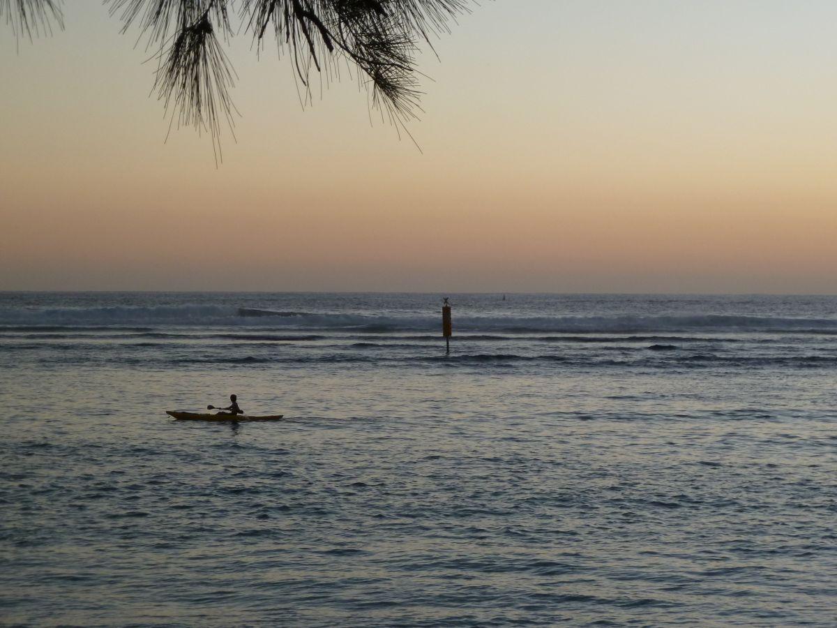 Sonnenuntergang am Meer.