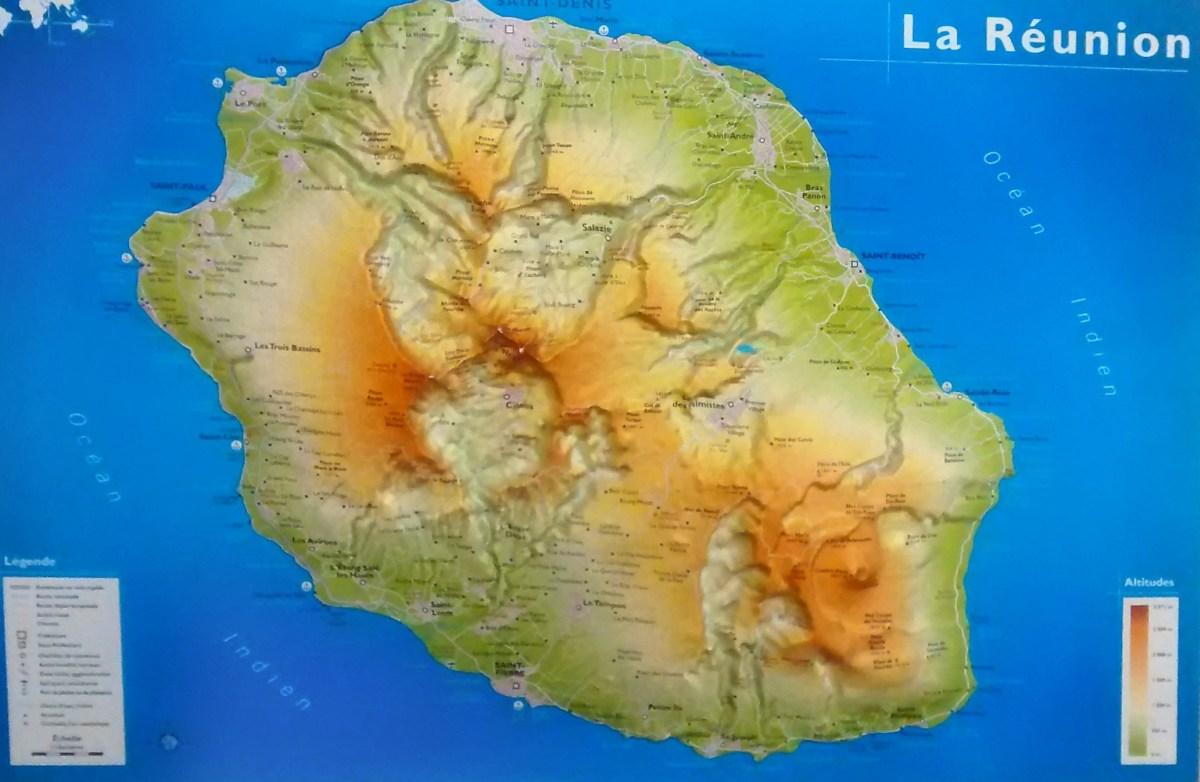 Karte von La Reunion.