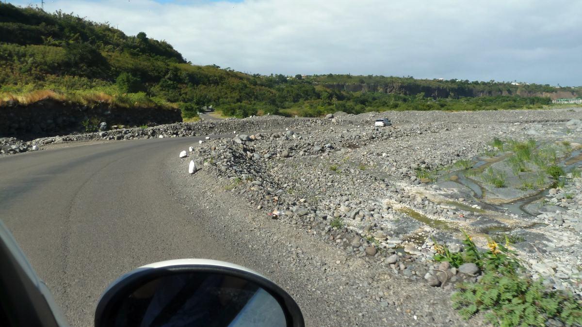 Straße auf La Reunion.