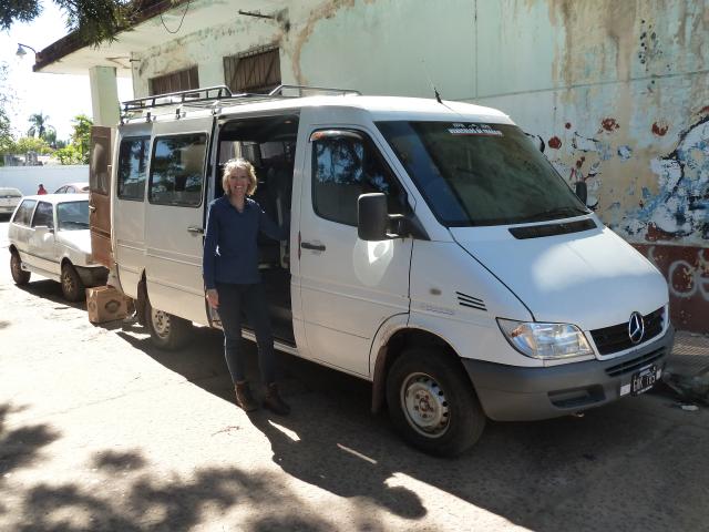 Hat uns gefunden: Minibus