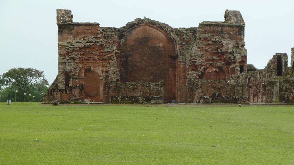 Große Ruine einer Jesuiten-Mission in Paraguay.