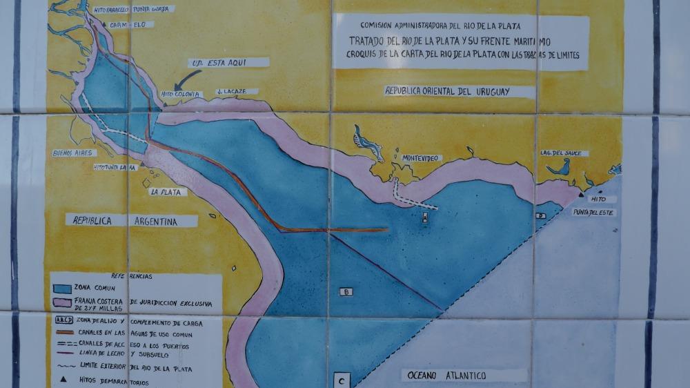 Karte von der Mündung des Rio de la Plata.