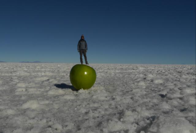 Tanz auf dem Apfel