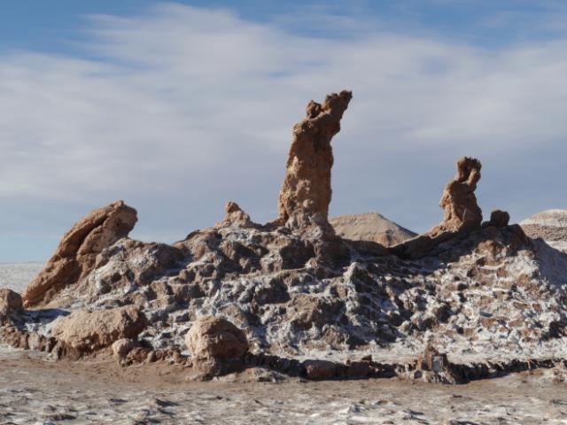 Die Tres Marías - von denen eine schon der Erosion zum Opfer fiel. Da waren's nur noch zwei...