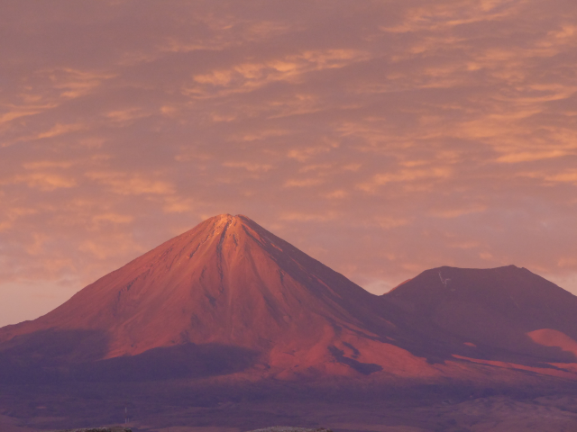 Licancabur in orange