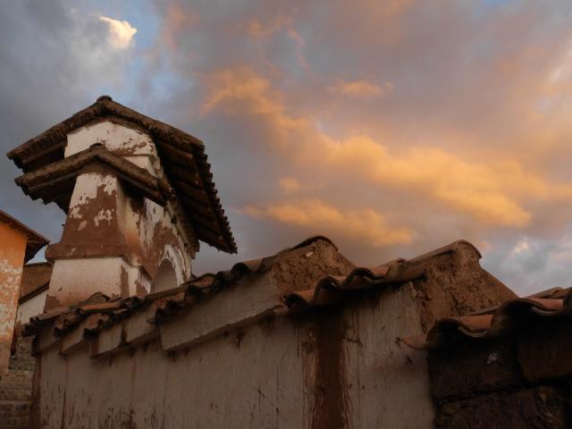Abendhimmel über den Mauern Chincheras - danach wars zu dunkel zum fotografieren