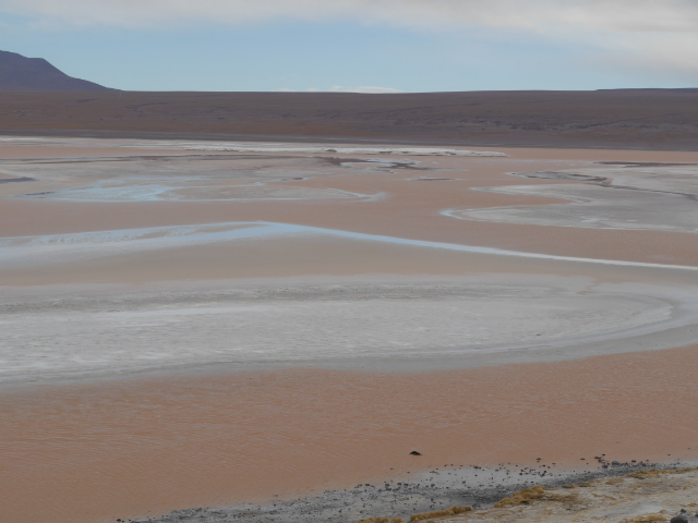 Laguna Colorada - mit Wolken, ohne Flamingos