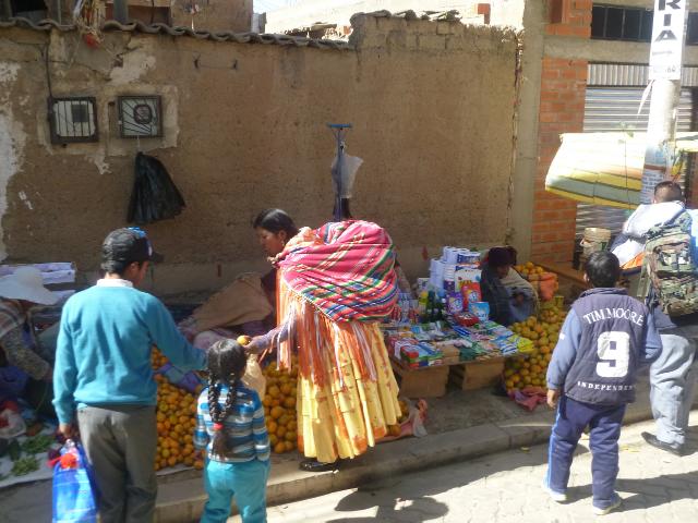 Sich auf den Märkten in El Alto ist es bunt