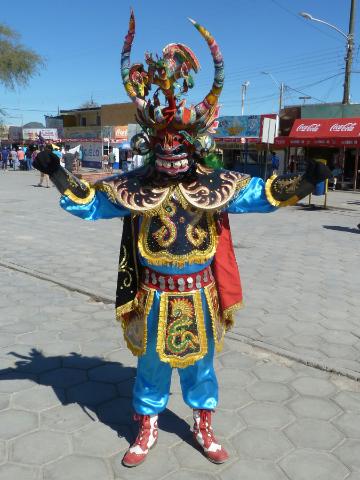 Maskenmann mit eher indigenem Ursprung