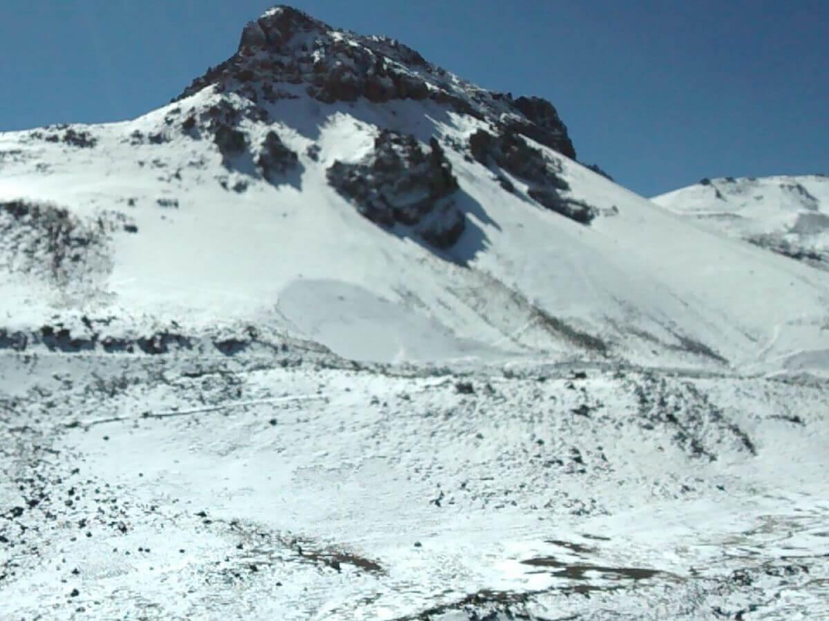 Schneebedeckte Berge.