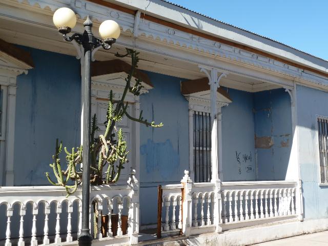 Haus im Kolonialstil.