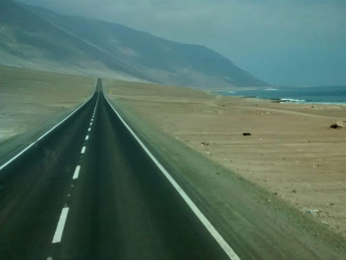 Straße am Pazifik