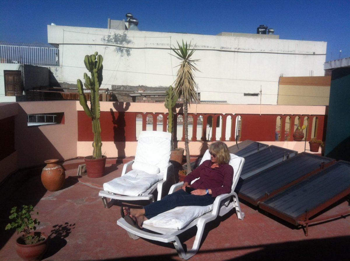 Chillen auf der Dachterrasse