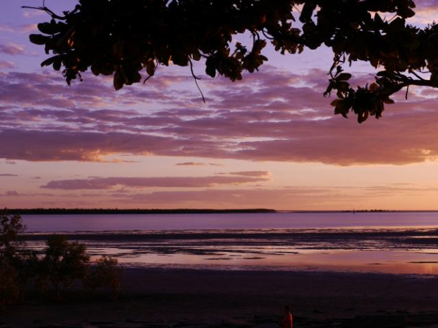 Eines von ungefähr 25 Bildern vom Sonnenuntergang