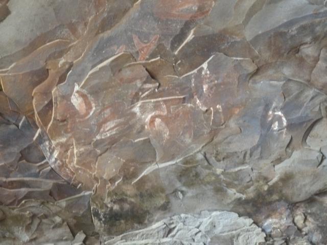 Felszeichnungen in der Höhle
