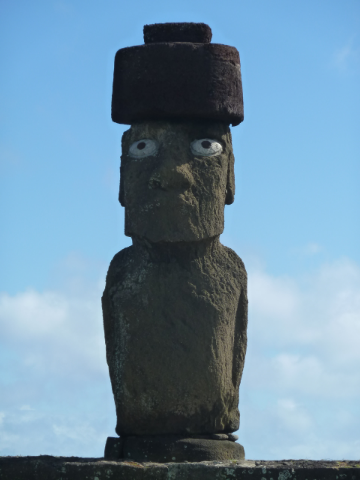 Osterinsel Moai mit Augen