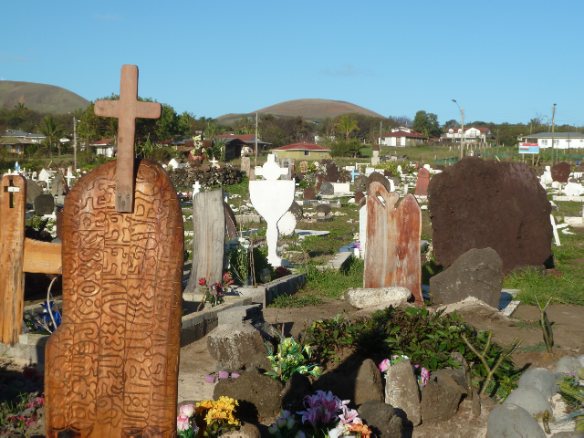 Osterinsel Friedhof von Hanga Roa