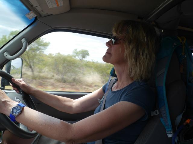 Ungewohnt großes Auto, Linksverkehr - das erfordert Konzentration beim Fahren