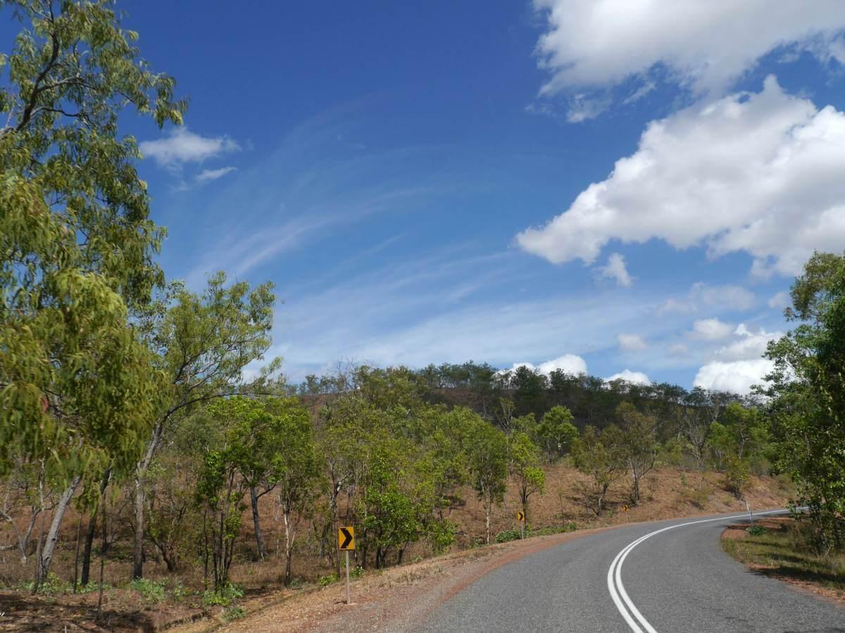 Straße im Litchfield National Park.