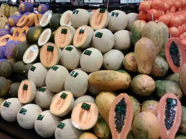 Tropische Früchte haben auch hier ihren Preis