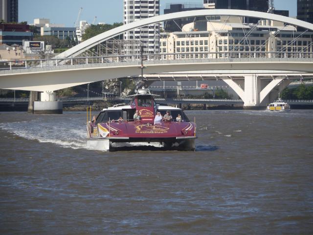 Die Fähre auf dem Brisbane River.