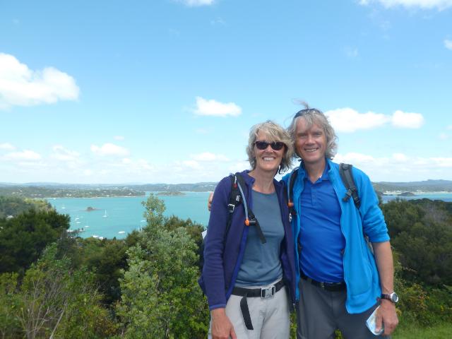 Blick vom Flagstaff Hill über die Bay of Islands