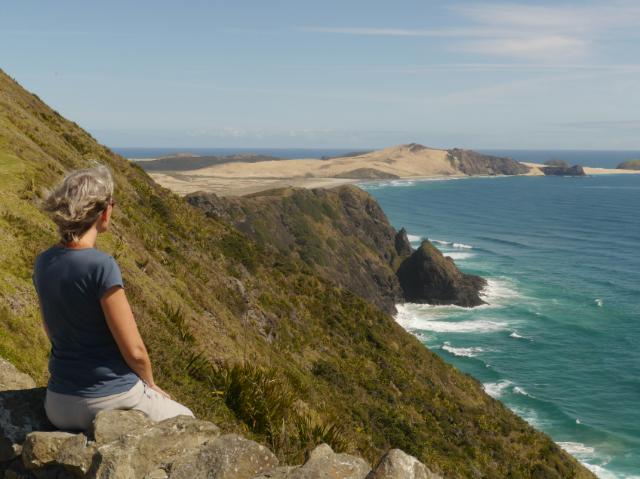 Da hinten ist die nördlichste Spitze Neuseelands