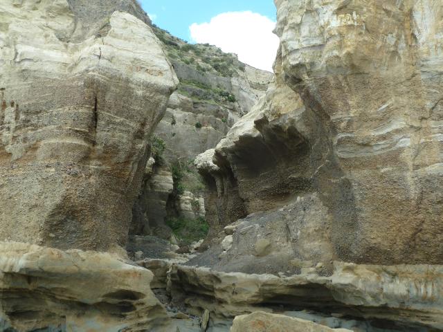 Felsformationen in den Klippen