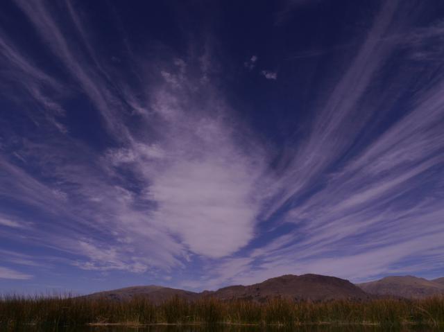 Wolkenfächer über dem Titicacasee