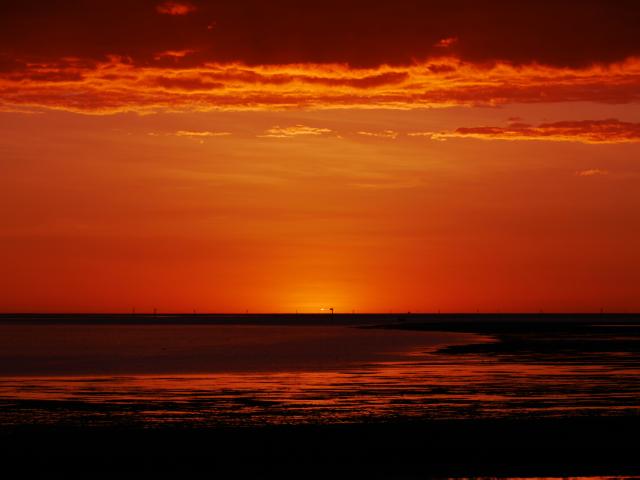 Sonnenuntergang über dem Golf von Carpentaria