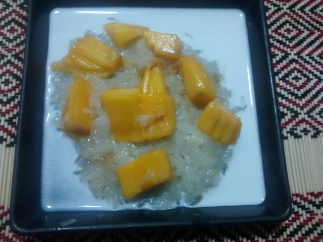 Krönender Abschluss: Sticky Rice with Mango. Unser neues Lieblingsdessert