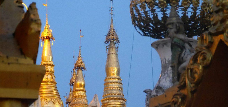Türmchen der Shwedagon Pagode