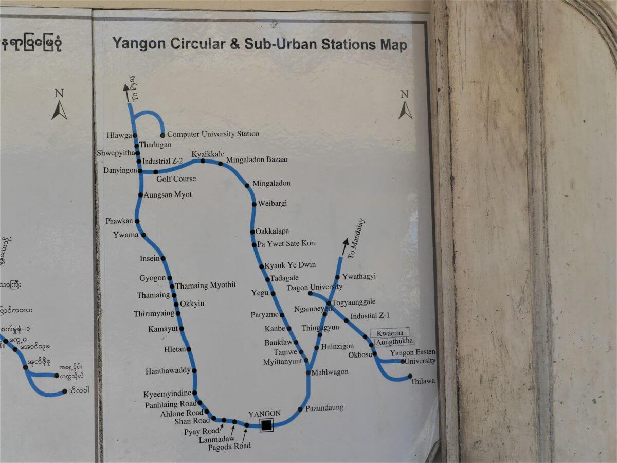 Plan der CircleLine mit Haltestellen