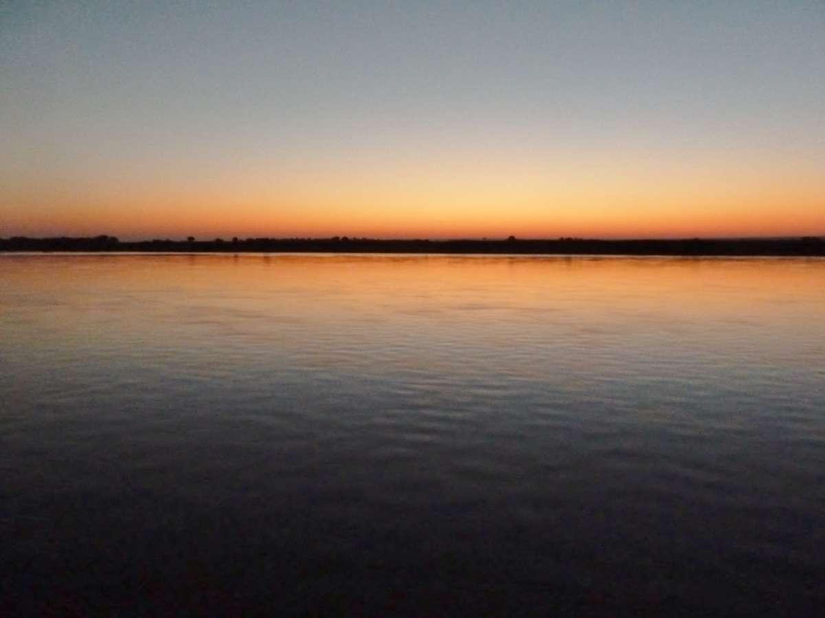 Sonnenaufgang über dem Irrawaddy