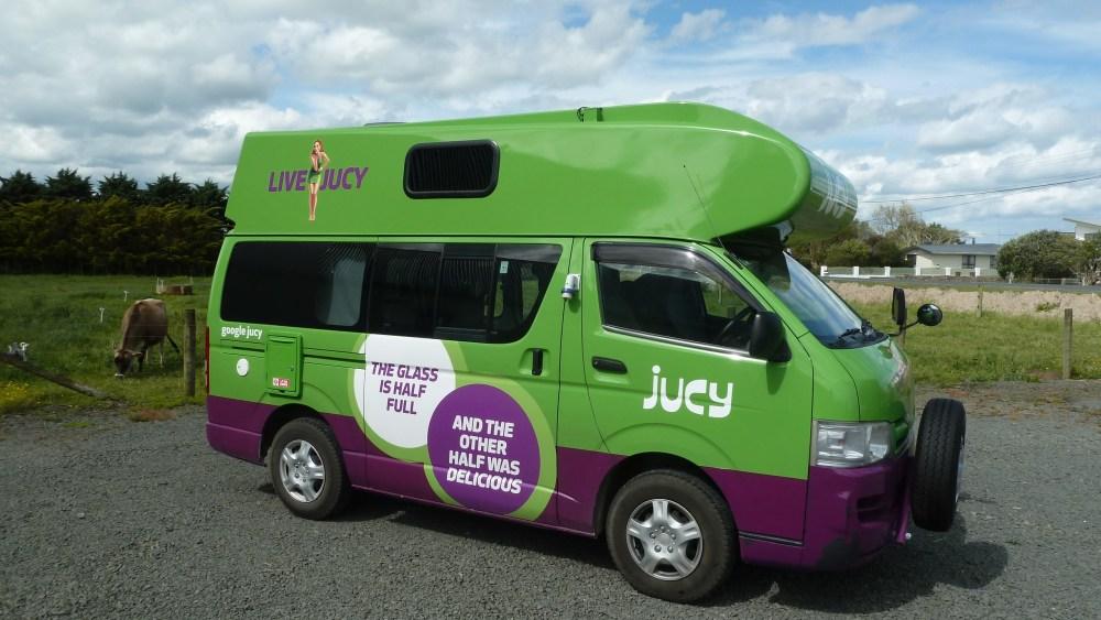Der Campervan, der ein großer Posten bei den Reisekosten Neuseeland war.
