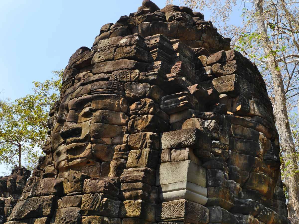 Tempel mit Gesicht.