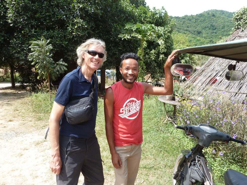 Marcus und der Tuktuk-Fahrer.