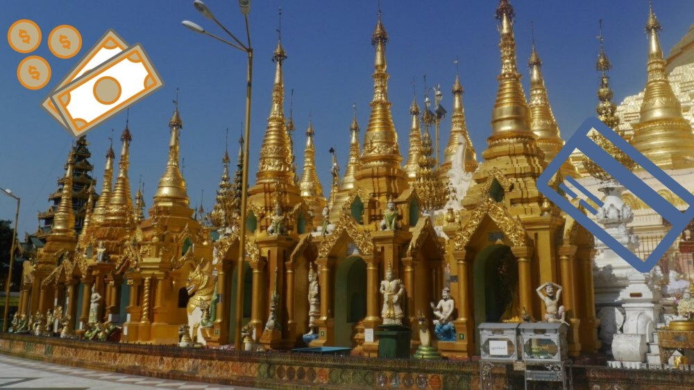 Goldene Pagoden in Myanmar.