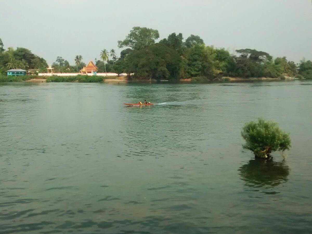 Der Mekong als breiter, ruhiger Fluss