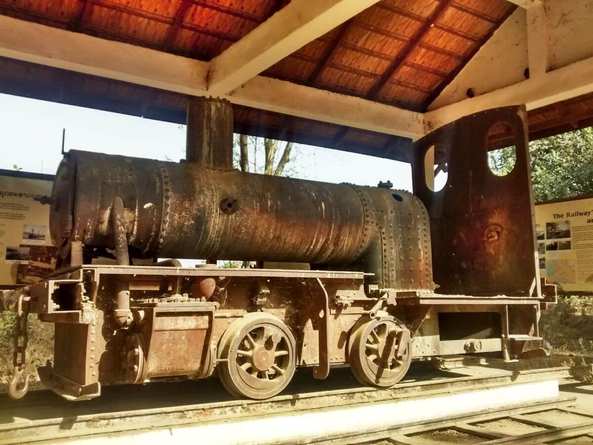Rostige Dampflokomotive