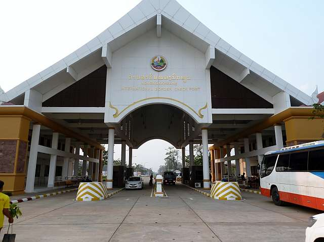 Grenzgebäude von Laos