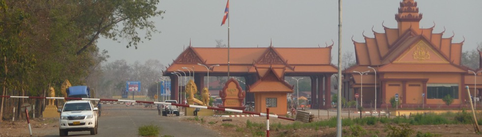 Auf dem Landweg über die Grenze von Kambodscha nach Laos