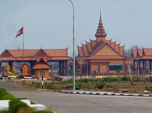 kambodschanisches Grenzgebäude