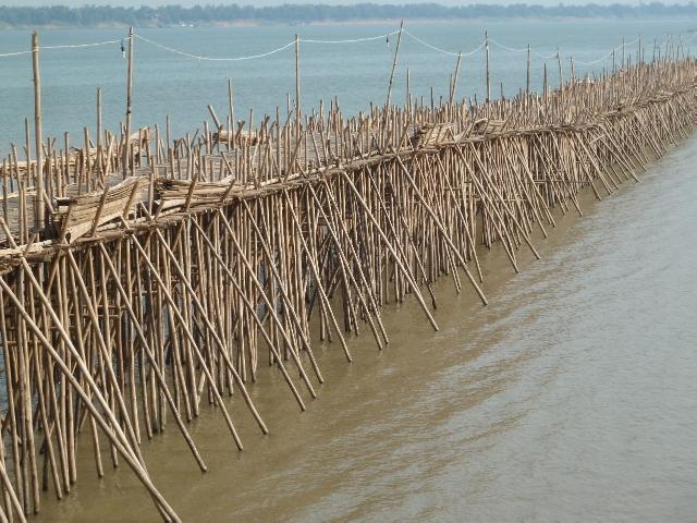 kampong Cham Bambusbrücke