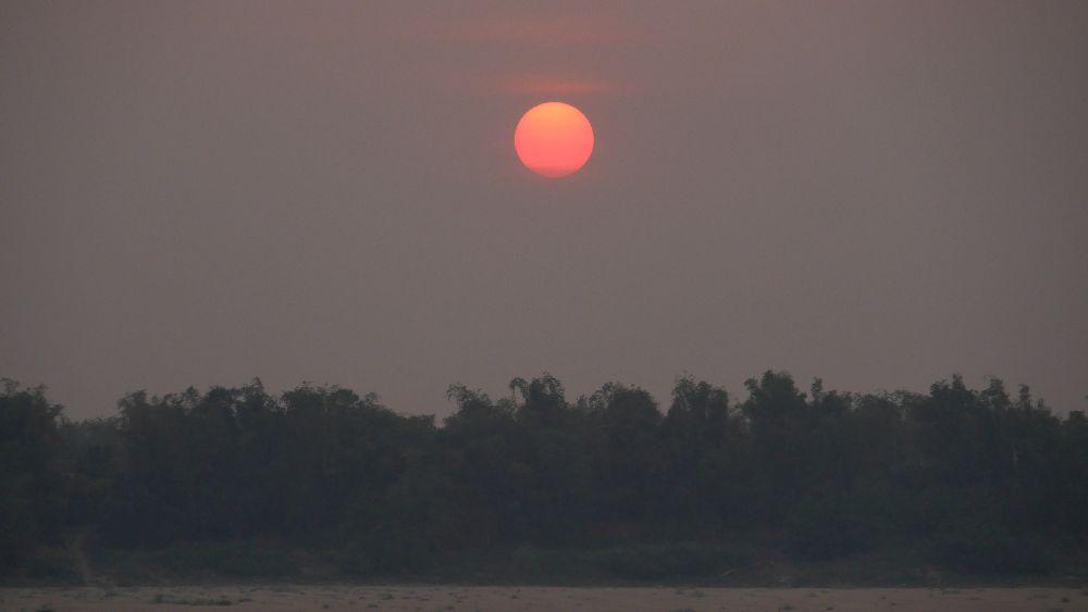 Sonnenuntergang über Kratie